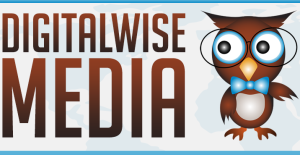 DigitalWise Media Banner with Owl Logo
